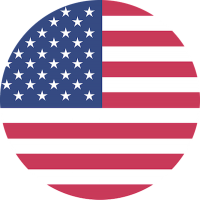 Round American flag