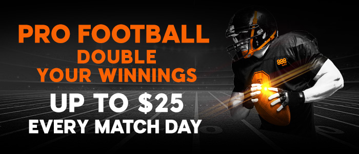 Pro football double winnings promotion at 888sport