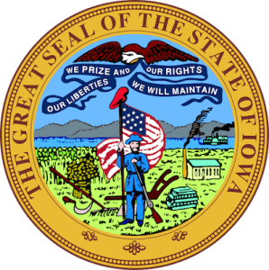 Seal of the state of Iowa