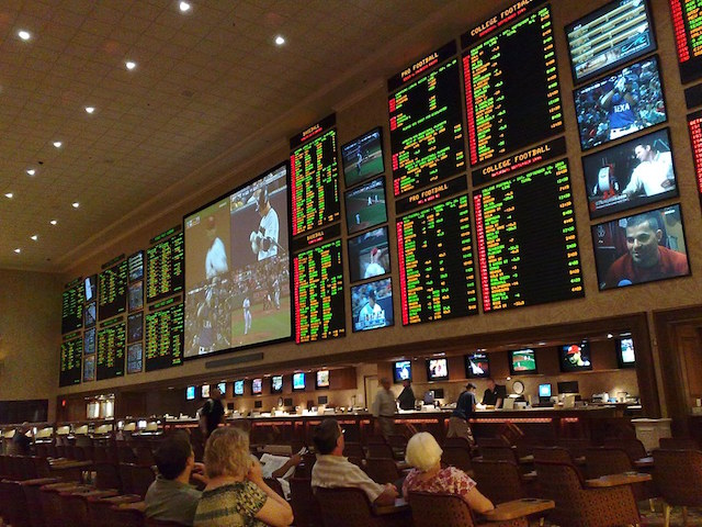 Sportsbook lounge at casino