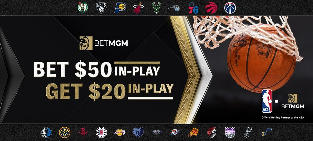 BetMGM NBA In play bet promotion