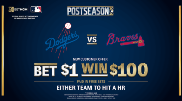 BetMGM Bet$1 Win$100 MLB Promo