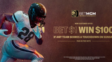 BetMGM Bet $1 Win $100 Sunday Football